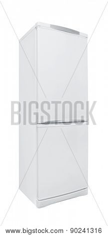 Refrigerator isolated on white background