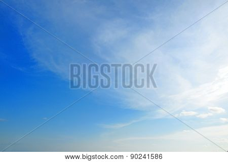 Beautiful Summer Clouds in the blue sky at Rayong, Thailand.