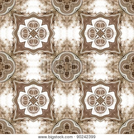 Seamless Kaleidoscope Texture Or Pattern In Brown 2