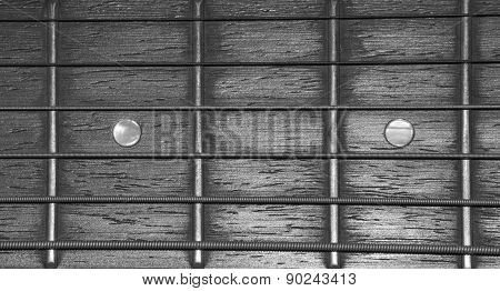 Guitar Strings (close Up)