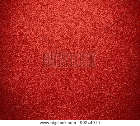 Cinnabar color leather texture background