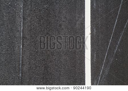 A New asphalt texture with white line