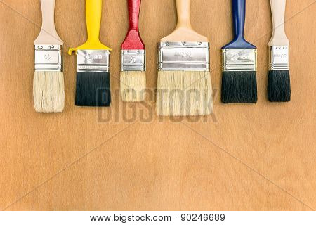 Paintbrushes In Row