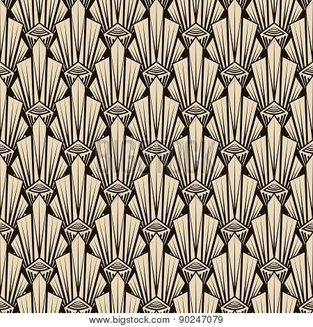 Seamless Antique Pattern Ornament. Geometric Art Deco Stylish Background. Vector Repeating Texture I