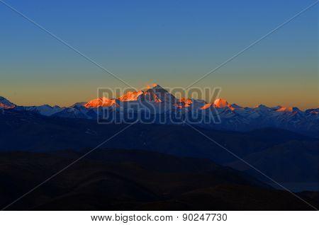 Sunrise on Mount Everest