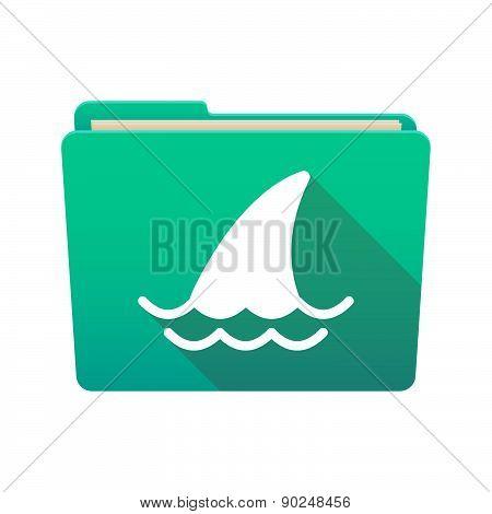 Folder Icon With A Shark Fin