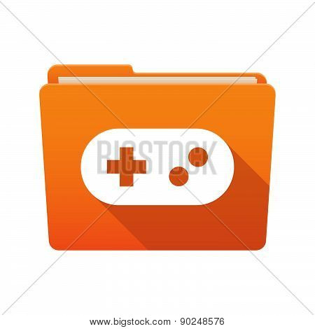 Folder Icon With A Game Pad