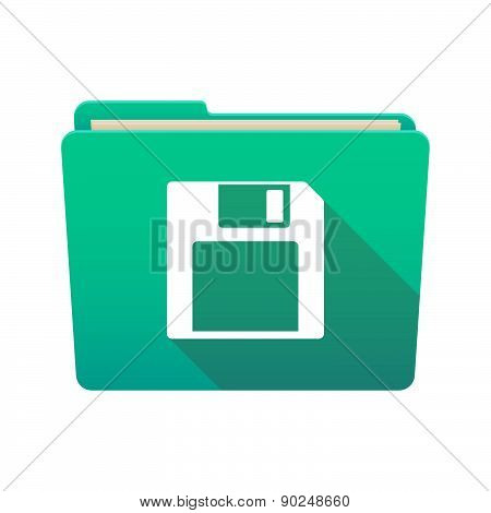 Folder Icon With A Floppy Disk