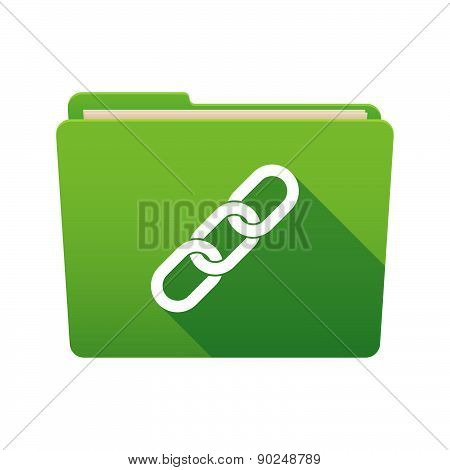 Folder Icon With A Chain