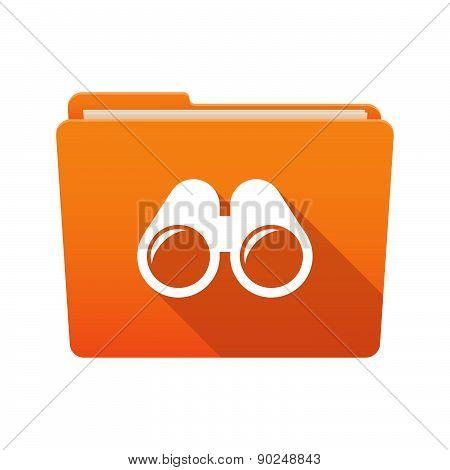 Folder Icon With A Binoculars