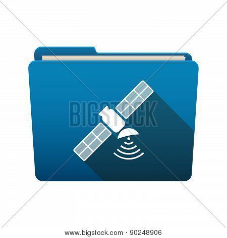 Folder Icon With A Satellite