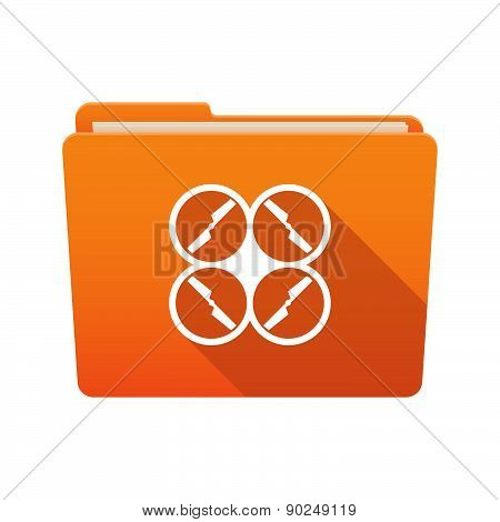 Folder Icon With A Drone