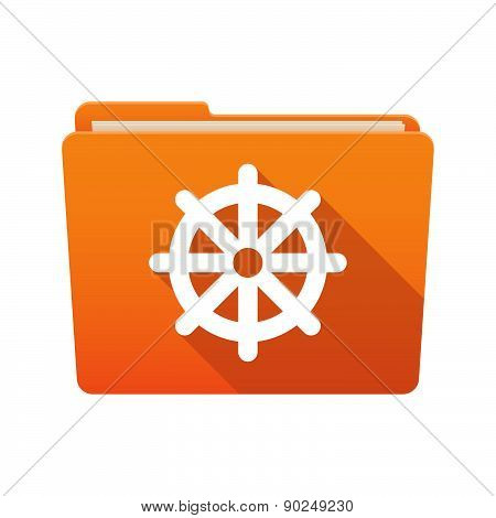 Folder Icon With A Dharma Chakra Sign
