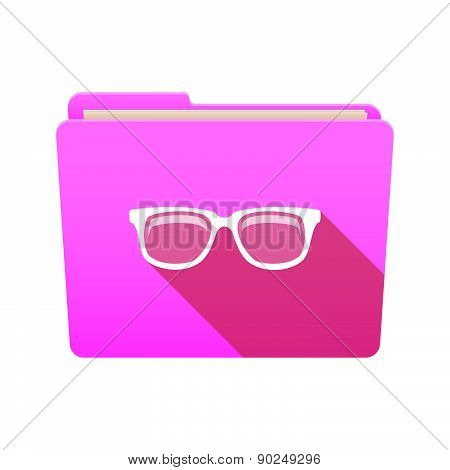 Folder Icon With A Glasses