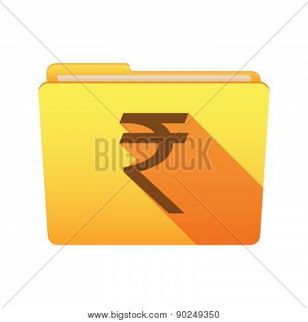 Folder Icon With A Rupee Sign