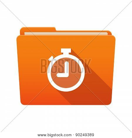 Folder Icon With A Timer