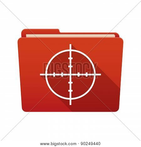 Folder Icon With A Crosshair