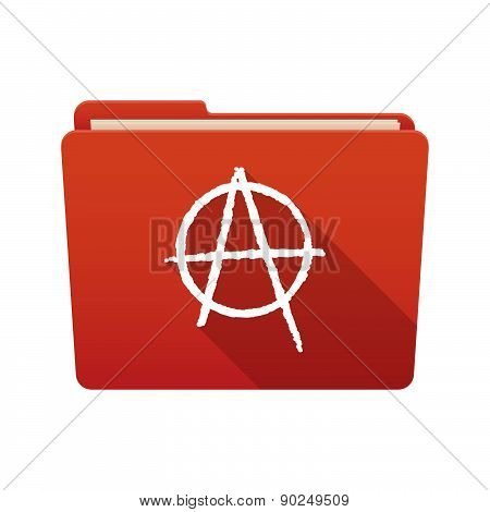Folder Icon With An Anarchy Sign