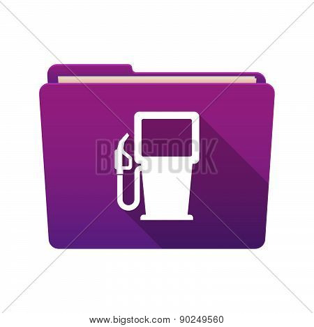 Folder Icon With A Gas Station