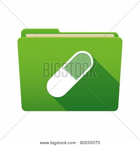 Folder Icon With A Pill