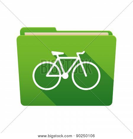 Folder Icon With A Bicycle