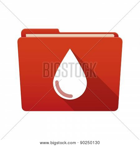 Folder Icon With A Blood Drop
