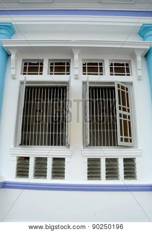 Window of The Sultan Ibrahim Jamek Mosque at Muar, Johor