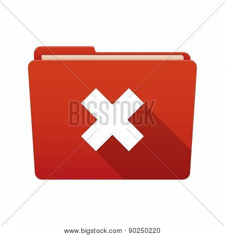 Folder Icon With An X Sign
