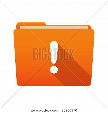 Folder Icon With An Exclamation Sign