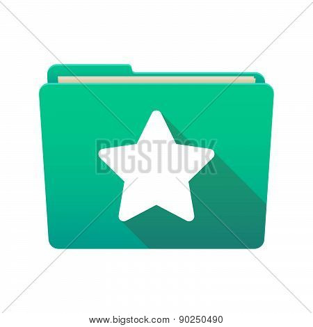Folder Icon With A Star