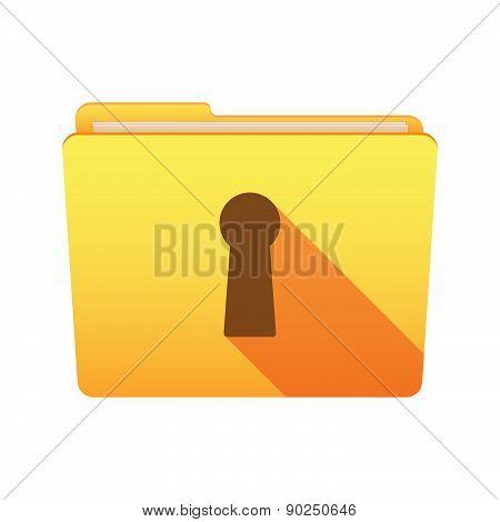 Folder Icon With A Key Hole