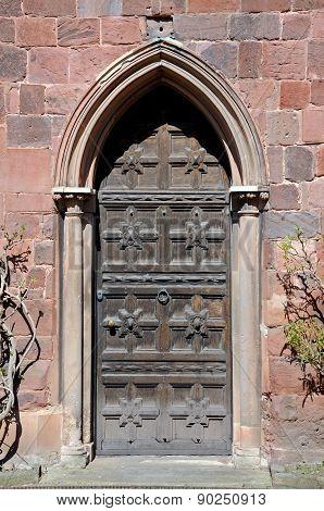 Shewsbury castle door.