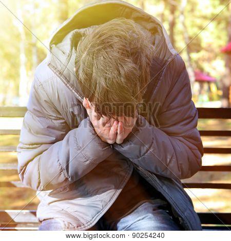 Sad Man Outdoor