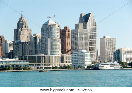 American City Skyline And Waterfront