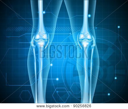 Healthy Human Legs Knee Joint Technology Background