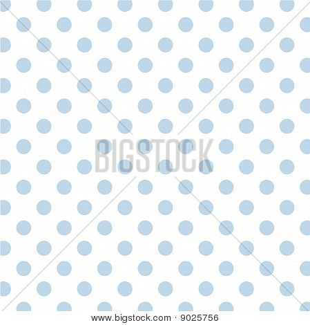 Big Blue Polka Dots On White