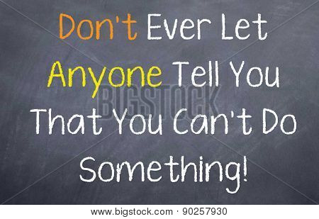 Don't Let Anyone