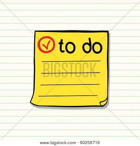 Yellow Paper Sticker