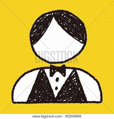 Waiter Doodle