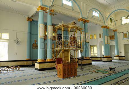 Mimbar of The Sultan Ibrahim Jamek Mosque at Muar, Johor