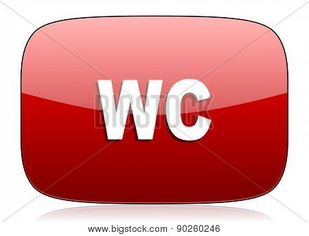 toilet red glossy web icon