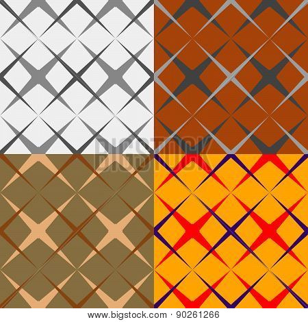 Set Of Geometric Seamless Pattern