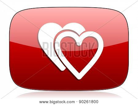 love red glossy web icon