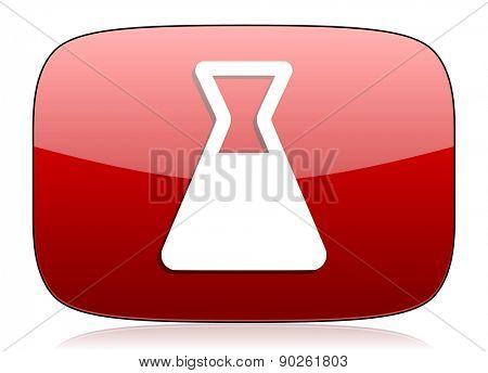 laboratory red glossy web icon