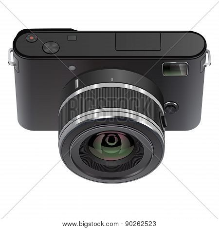 Abstract Digital Photo Camera isolated on white background