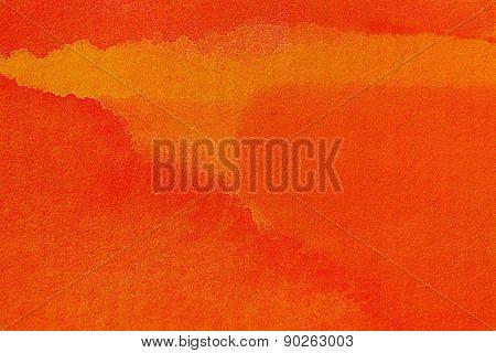 Intense red watercolor design