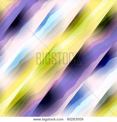 Abstract diagonal wavy strips.