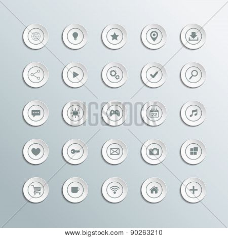 Set of 3d circle icons for workflow layout, diagram and web design.
