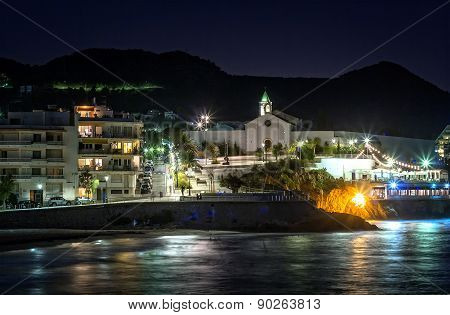 Mediterranean Coastal Town. Long Exposure