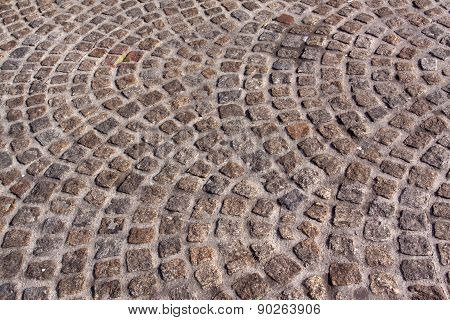 Background Made Of Cobblestones  In Amsterdam Cricles